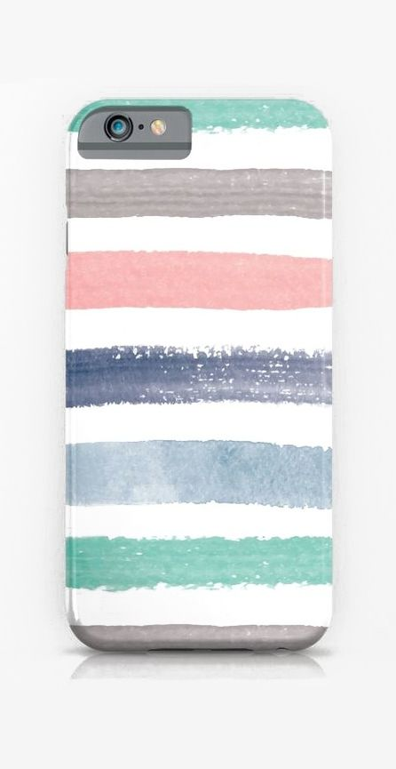 Colored Watercolor Brush Strokes iPhone & iPod Case