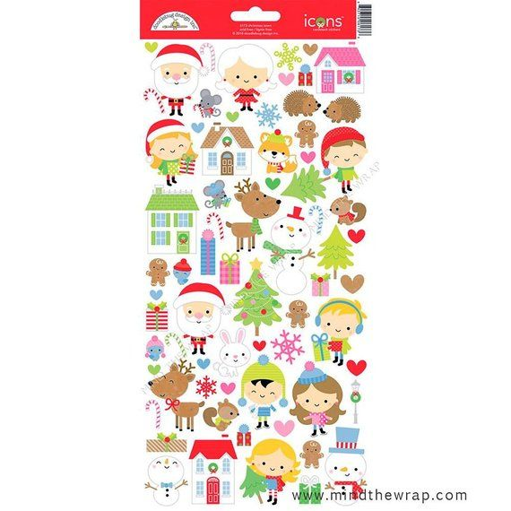 Doodlebug Cardstock Stickers-So Punny Friends Icons