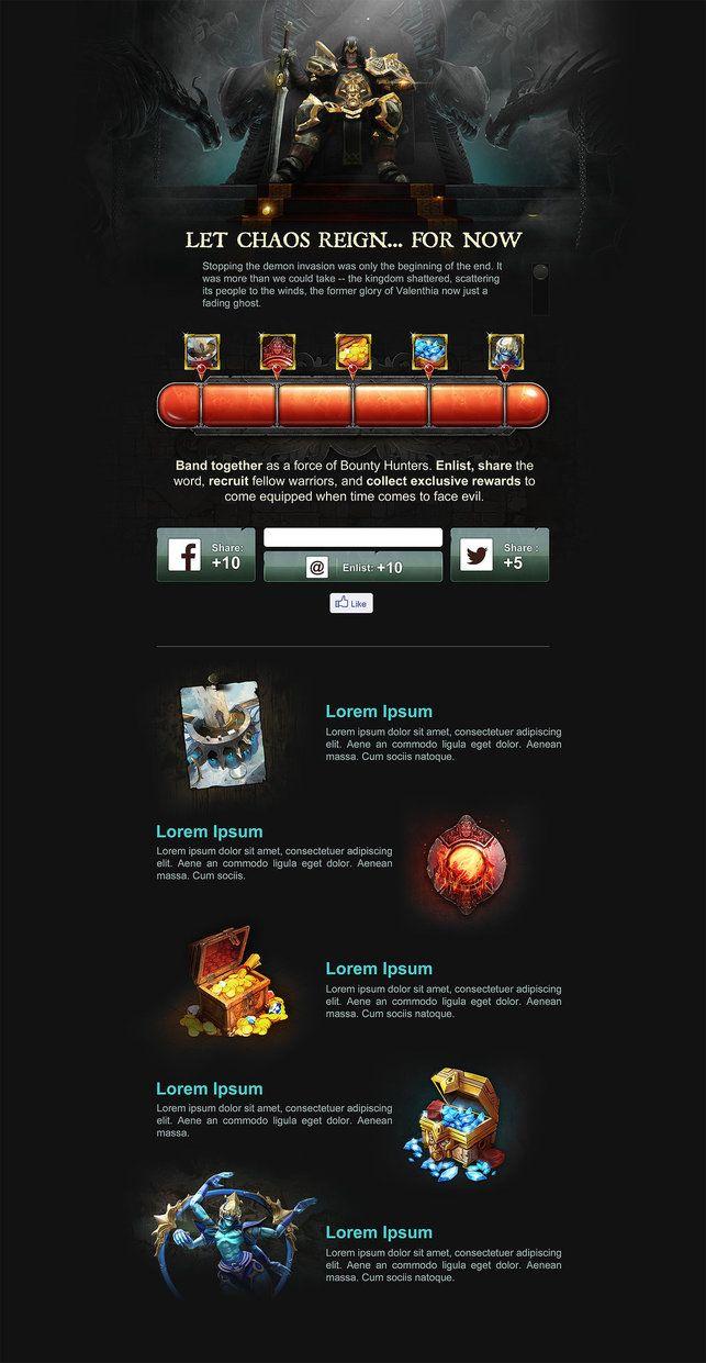 Dungeon Hunter 5 Promo Website by Panperkin