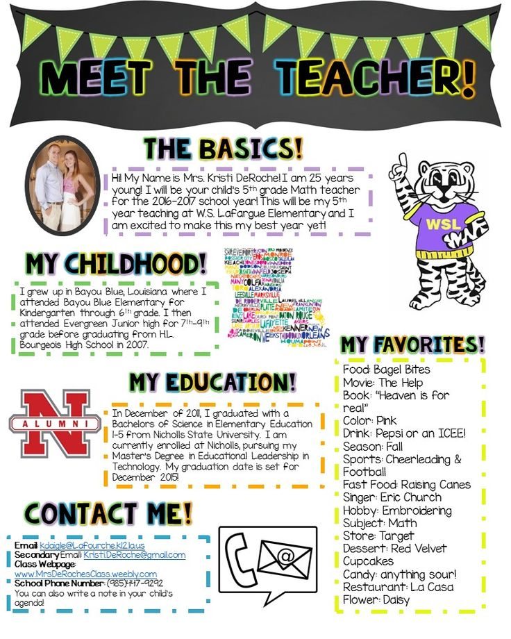 meet the teacher letter for parents