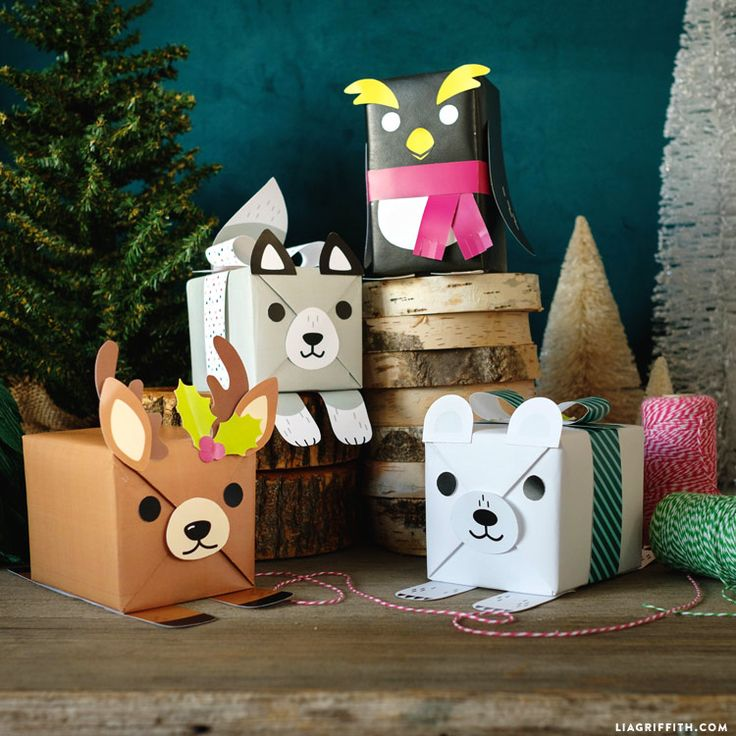 Dress up your packages for the kids with our printable templates to create adorable animal gift wrap. Our characters include a penguin, kitty and reindeer!