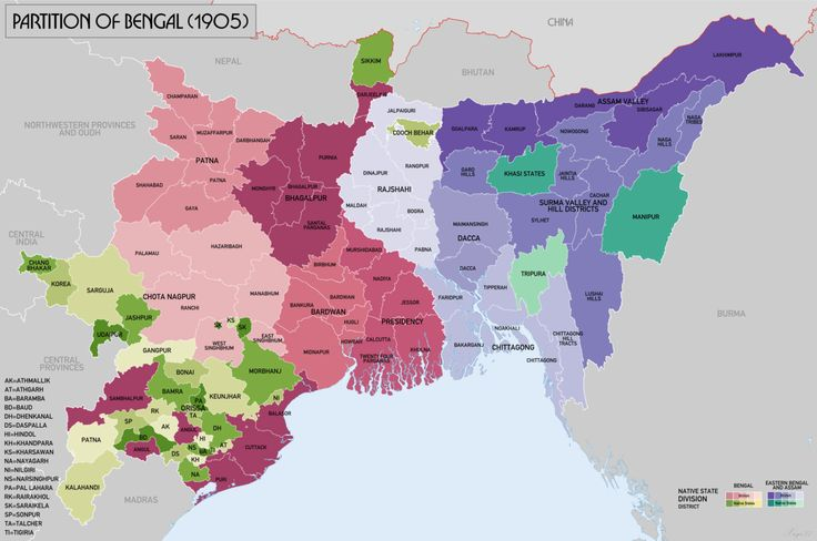 Partition of Bengal (1905) - Wikipedia