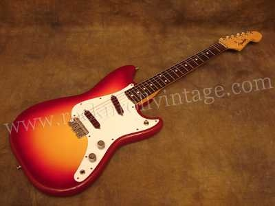 Just like my first electric guitar. 1961 Fender Duo-Sonic, which I still have.