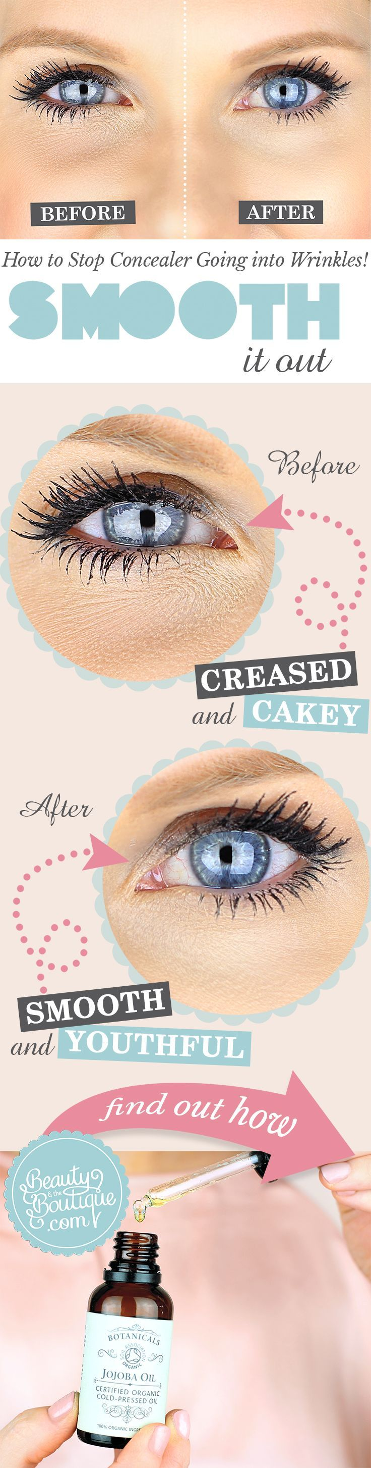 How to Stop Concealer Going into Wrinkles!
