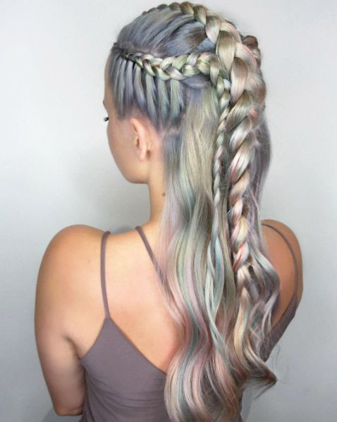 Colorful metallic braids by Shelly Gregory