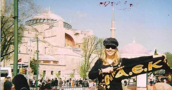 In this picture I'm the Hagia Sophia in Constantinople- 2009