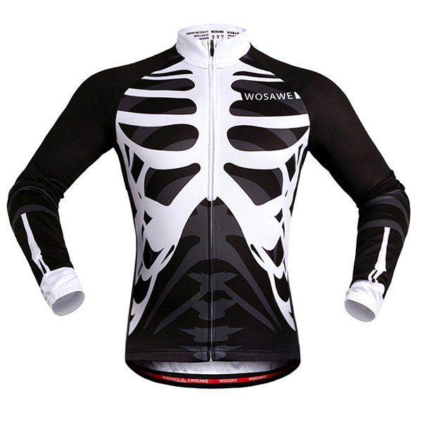 High Quality Skeleton Pattern Breathable Quick Dry Cycling Long Sleeve  Jersey For Unisex b8c1473c9