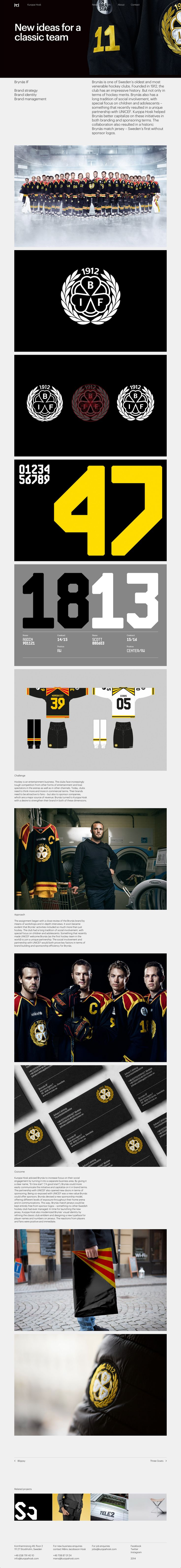 Brynäs is one of Sweden's oldest and most venerable hockey clubs. Brynäs has a long tradition of social involvement, with special focus on children and adolescents – something that recently resulted in a unique partnership with UNICEF. Kurppa Hosk helped Brynäs better capitalize on these initiatives in both branding and sponsoring terms. The collaboration also resulted in a historic Brynäs match jersey – Sweden's first without sponsor logos. #Brandstrategy #Brandidentity #Brandmanagement