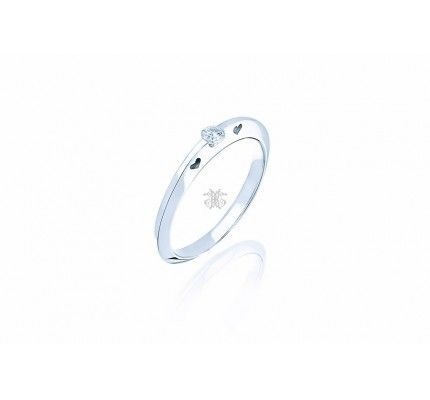 Δαχτυλίδι μονόπετρο λευκόχρυσο με διαμάντι #ring #whitegold #diamond #woman #proposal #wedding #love