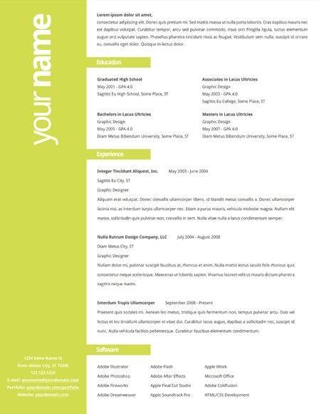 simple easy resume