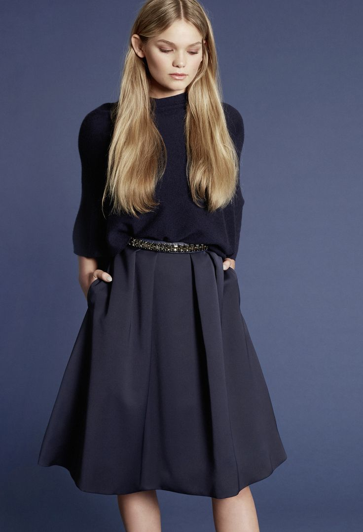 Mix & Match your perfect dress! Crystal belt in midnight blue. Own the night.
