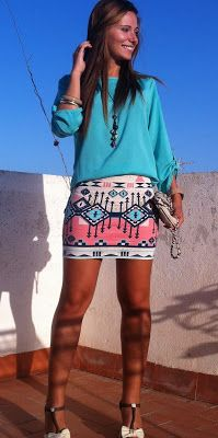 In the real world, where can I find one of these Native American/Southwestern print skirts???
