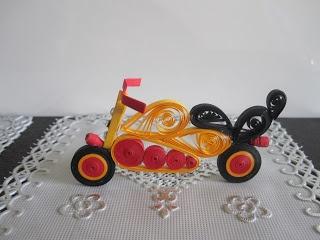 Nimisha's Creations: Motorbike.... 3D quilling