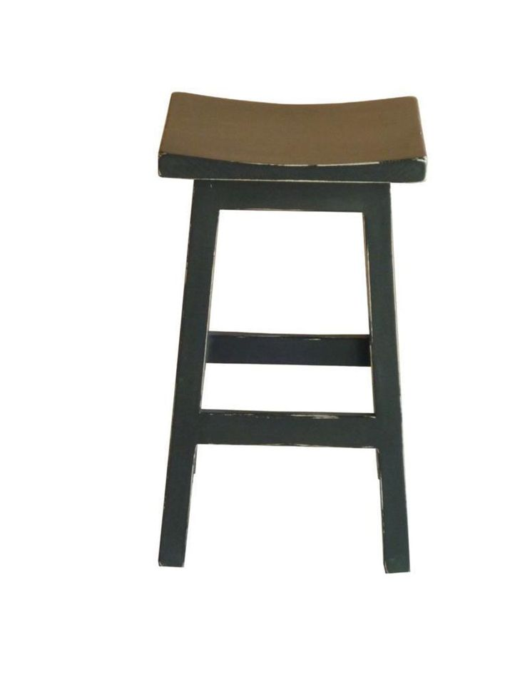 "NEW ""Tokyo"" Black Wooden Japanese Style Shabby Rustic Kitchen Chair BAR Stool 