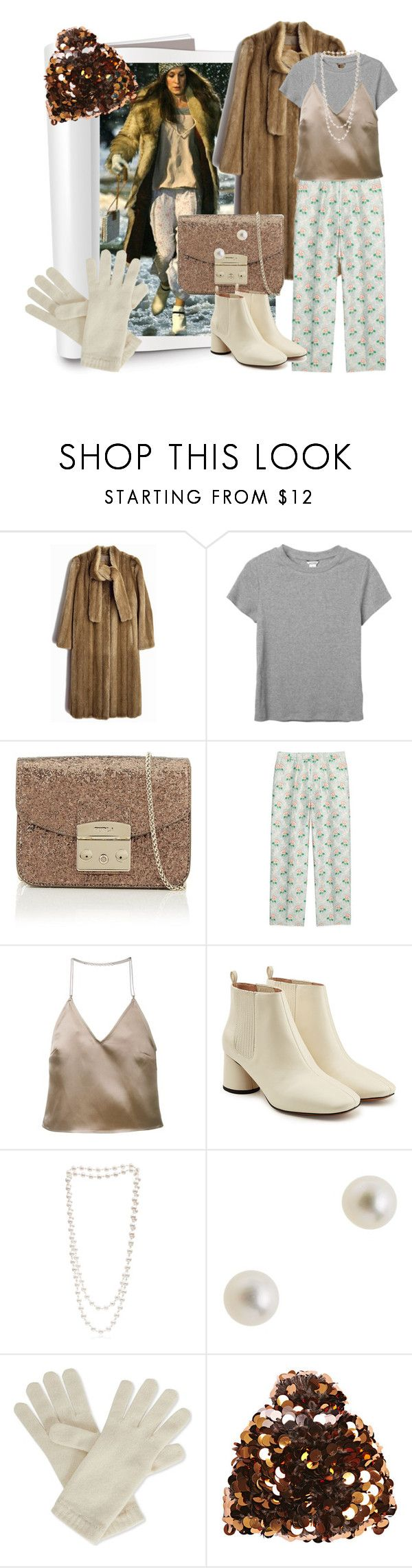 """""""Carrie's style #6"""" by mariloli1303 ❤ liked on Polyvore featuring Monki, Furla, Gucci, Barbara Casasola, Marc Jacobs, The Pearl Quarter, J.Crew, Johnstons and Grevi"""