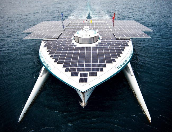 This solar boat is amazing!