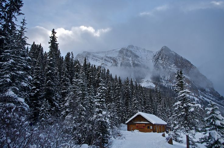 Cabin at Lake Louise in Banff National Park, Canada. Contributed byMark Iocchelli.