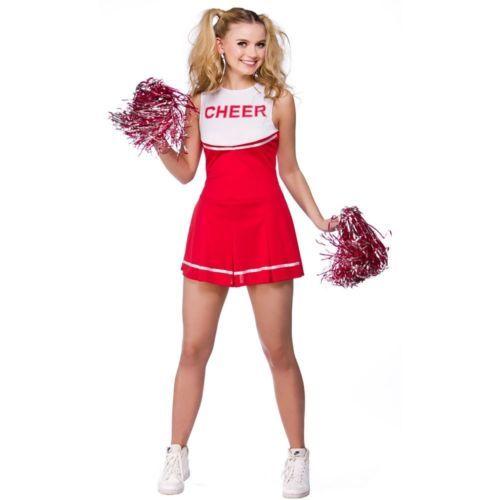 Red cheerleader #fancy dress costume #womens ladies high #school prom & pom…