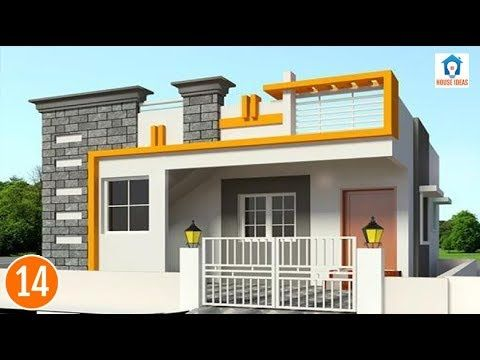 Simple House Front Elevation Independent Elevations Single Floor 3d
