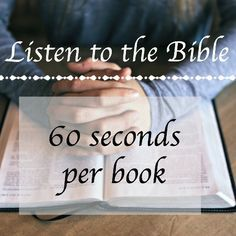 Listen to the whole Bible: 60 seconds per book AND a printable chart to track your progress!