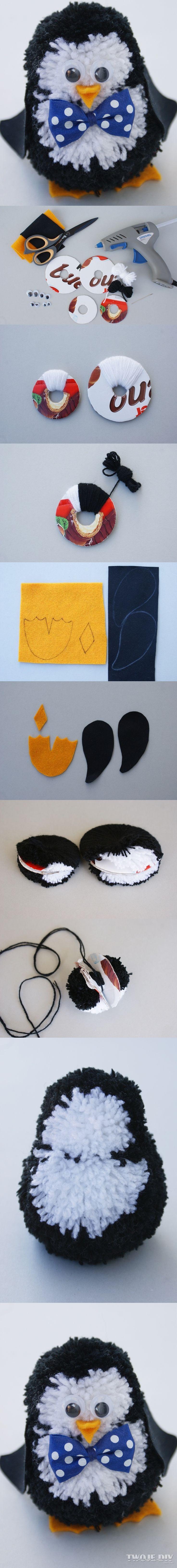 Pinguin met pompoms: