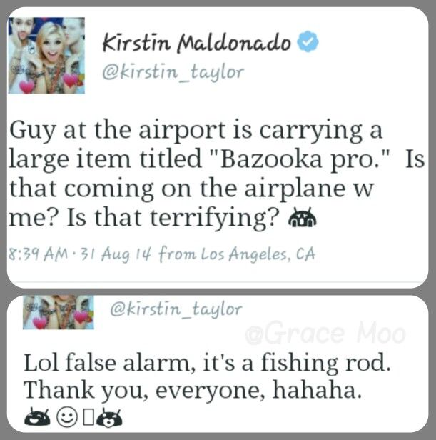 Haha, Kirstie. Turns to Twitter for everything, Pentatonix does.