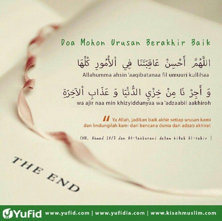 Doa Mohon Urusan Berakhir Baik