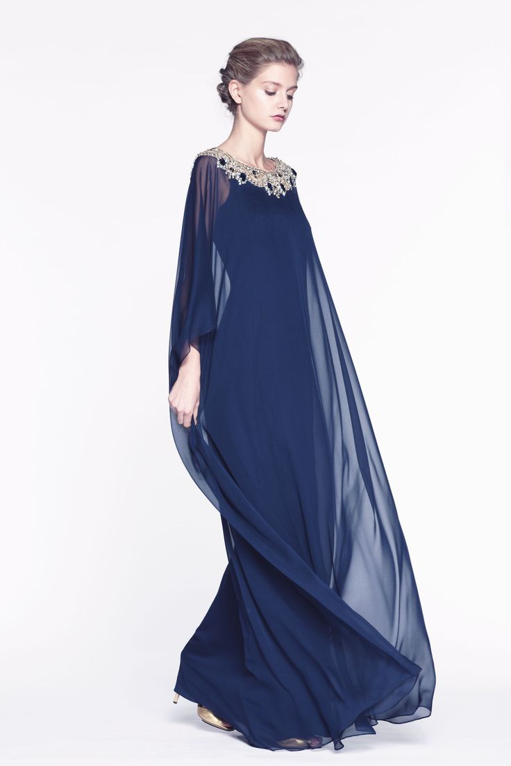 Reem Acra Pre-Fall 2013...similar to mine of late '60s/early'70s, in navy with silver too!