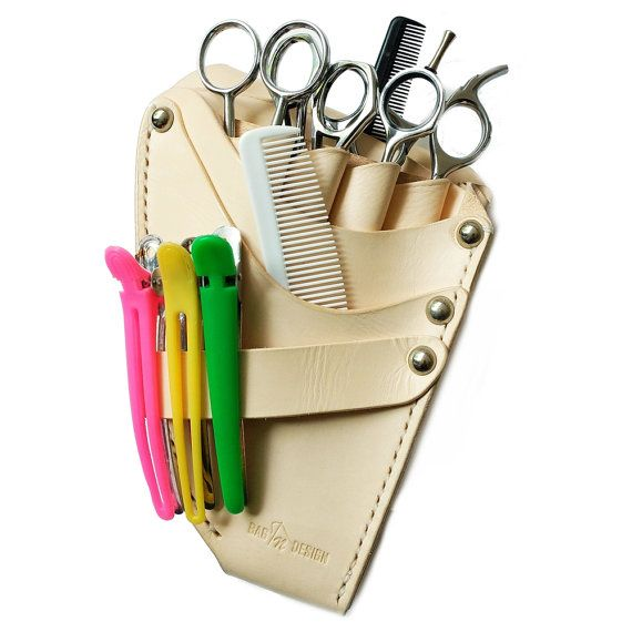 Professional Scissors Pouch is for Professional Hairdresser. This pouch is suitable for Hair Scissor, Hairclip other Hair Equipment for Haircut. The professional scissors pouch is made of best quality of vegetable tanning leather, sewing by hands.