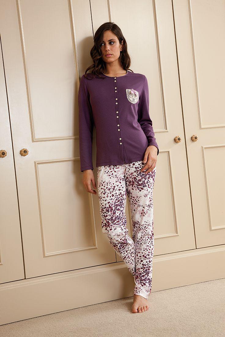 #pijama en tejido de punto #egatex #sleepwear