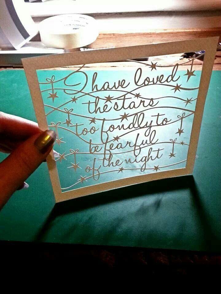 Lovely papercut by Paper Panda...