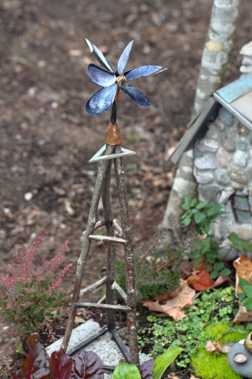 #Fairy stone house with windmill in the #FairyGarden ;-) http://fred67.com/fairygarden