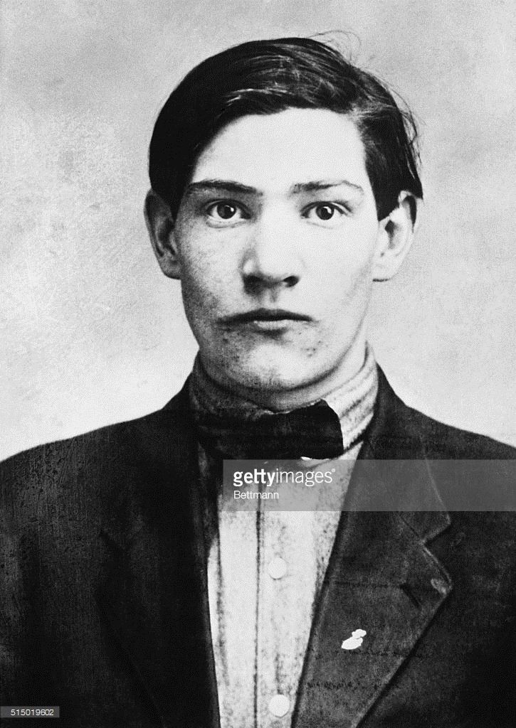 Gangster John May wearing a bow tie. May, a member of George 'Bugs' Moran's…