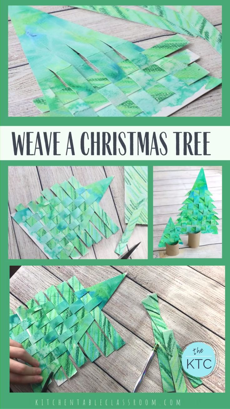 Weave a paper Christmas tree