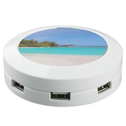 Tropical Island Paradise USB Charging Station - blue gifts style giftidea diy cyo
