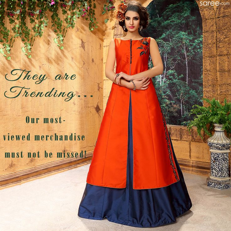 Check out our most-viewed products to make a quick and easy selection of the most fashionable, latest, trendy and chicest Indian ethnic fashion.