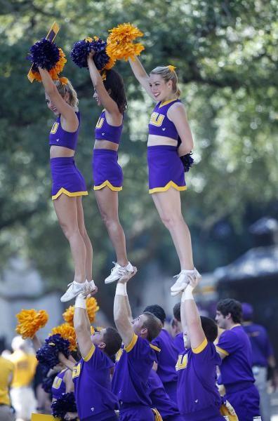 LSU cheerleaders...the blonde is my sorority sister