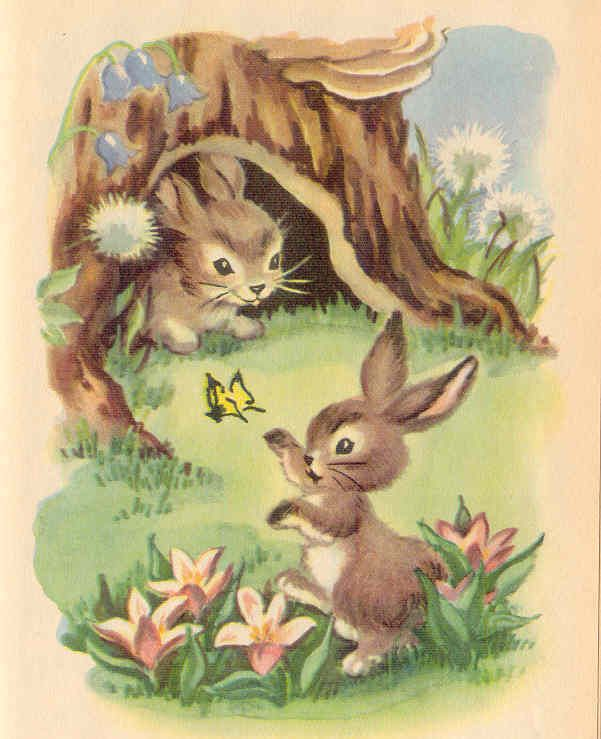 gold country girls: Bunnies From Books