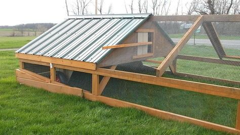 This is one of the largest and simplest tractors you'll find. The loft coop is 6'x8'. The run area is 8'x12 '. This is suitable for up to 10 chickens, but great for as few as 6.