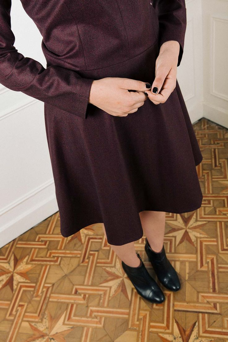 "Dress ""Alexandra"" @atodefrance  https://www.atode.fr/produit/robe-patineuse-en-laine-flanelle-bordeaux-alexandra/ @atodefrance #atode #madeinfrance #minimal #minimalist #ethicalfashion #sustainablefashion /  Photograph @Focalecreative"