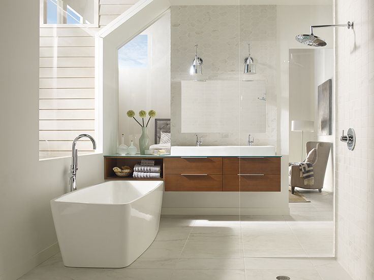 Image On As part of its bath program Omega introduces a wall hung vanity featuring a