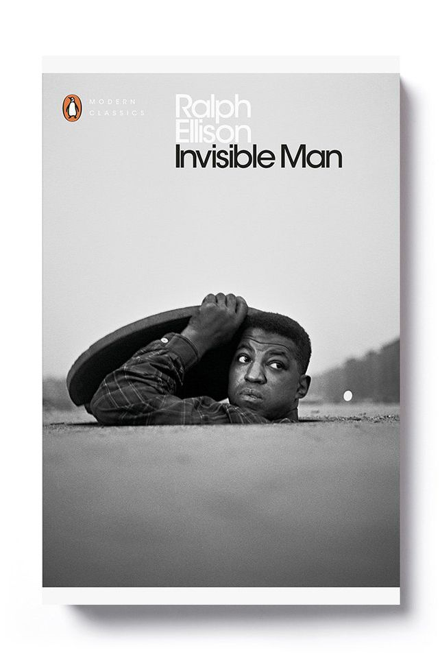 The front cover of the republished Ralph Ellison title Invisible Man, which features a photograph by Ralph Ellison.