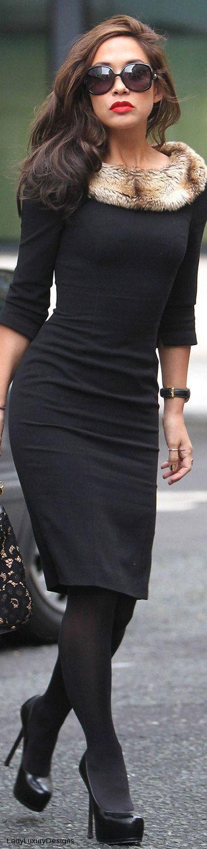 Black Body Con Dress • Street CHIC • ❤️ Babz ✿ιиѕριяαтισи❀ #abbigliamento