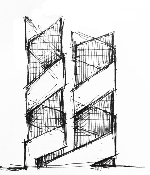Architectural Sketches part 1 by Scoly01 , via Behance