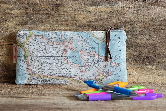 Hey, I found this really awesome Etsy listing at https://www.etsy.com/ru/listing/212693200/map-pencil-case-canada-map-case-map