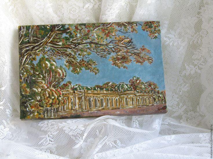 Купить Панно декупаж на холсте Золото Осени - комбинированный, осень, панно, картина на холсте