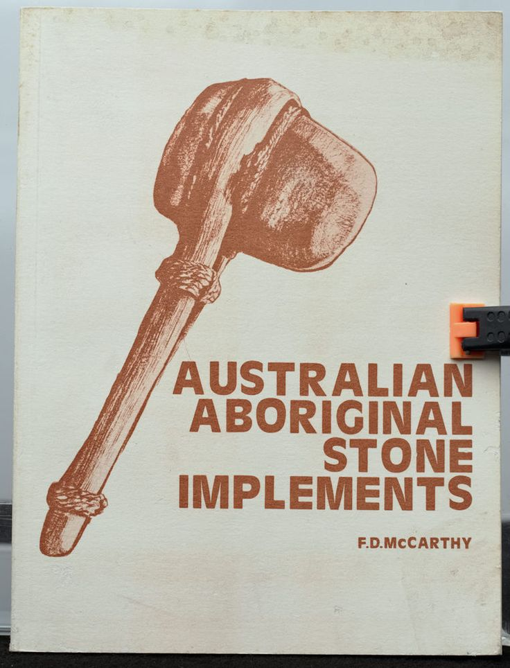 'Australian Aboriginal Stone Implements incl Bone Shell and Tooth', F.D.McCarthy #Book