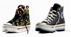 I piedistalli alle sneakers: Converse alte platform Converse limited edition Natale, cavallino e pois