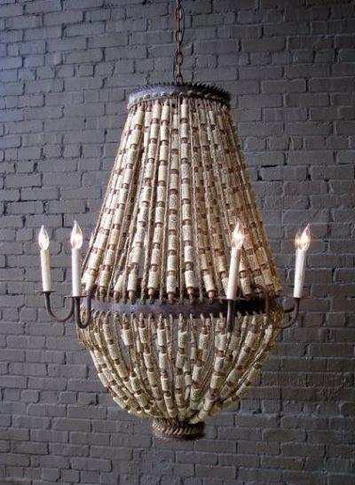 luigi cork chandelier.