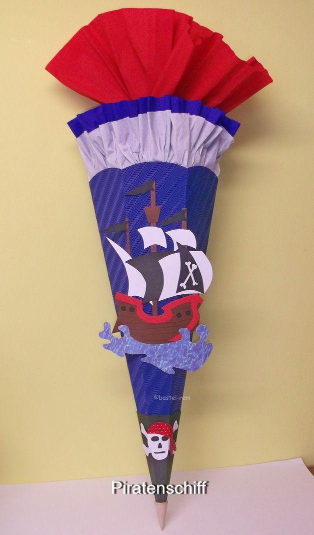 BASTELSET Schultüte Pirat Piratenschiff